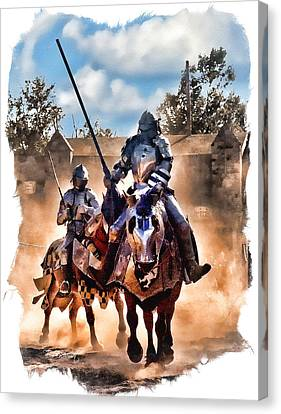 Knights Of Yore Canvas Print by Tom Schmidt