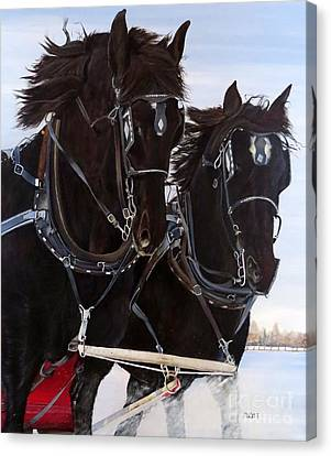 Canvas Print - Knights On Four by Marilyn McNish