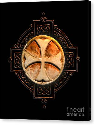Knights Templar Symbol Re-imagined By Pierre Blanchard Canvas Print by Pierre Blanchard