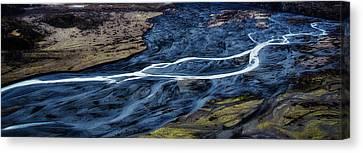 Knik Glacier Runoff Canvas Print by Pelo Blanco Photo