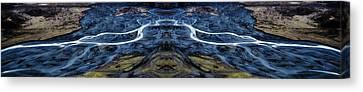 Knik Glacier Runoff Reflection Canvas Print by Pelo Blanco Photo