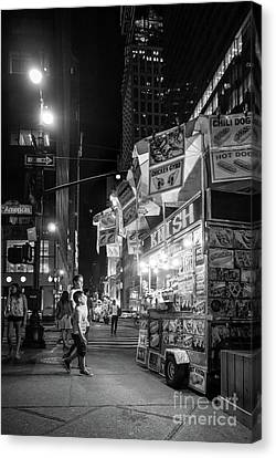 Knish, New York City  -17831-17832-bw Canvas Print by John Bald