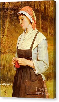 Sillem Canvas Print - Knitting  by MotionAge Designs