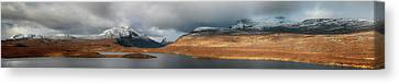 Canvas Print featuring the photograph Knockan Crag Mountain View by Grant Glendinning
