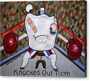 Knocked Out Tooth Canvas Print by Anthony Falbo