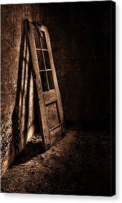 Knockin' At The Wrong Door Canvas Print by Evelina Kremsdorf