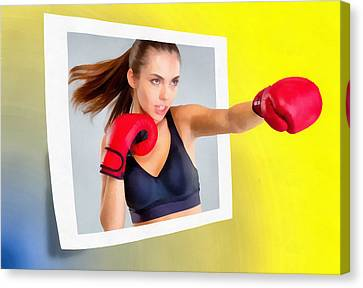 Knockout Canvas Print - Knockout by Anthony Caruso