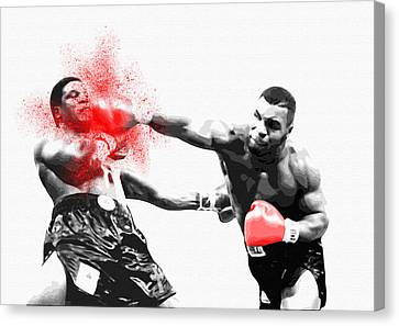 Knockout King Mike Tyson - By Diana Van Canvas Print