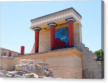 Knossos North Gate View Canvas Print by Paul Cowan