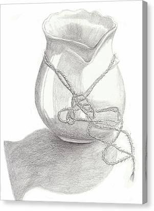 Knots On Vase Study Canvas Print