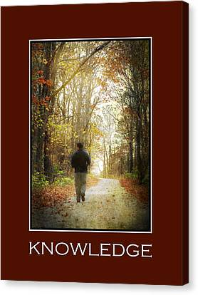Knowledge Inspirational Motivational Poster Art Canvas Print by Christina Rollo