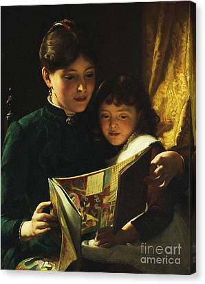 Knowledge Is Power Canvas Print by Seymour Joseph Guy
