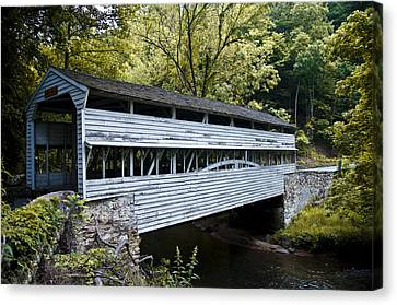 Covered Bridges Canvas Print - Knox Covered Bridge - Valley Forge by Bill Cannon