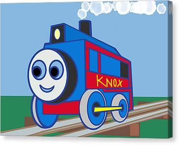 Knox The Engine Canvas Print by Denny Casto
