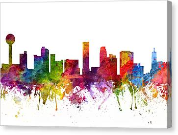 Knoxville Cityscape 06 Canvas Print by Aged Pixel