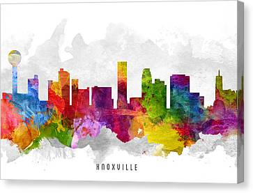 Knoxville Tennessee Cityscape 13 Canvas Print