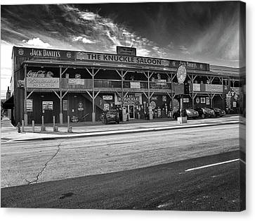 Canvas Print featuring the photograph Knuckle Saloon Sturgis by Richard Wiggins