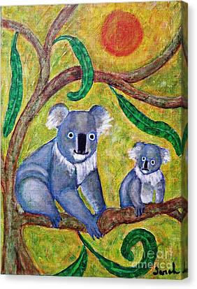 Koala Sunrise Canvas Print by Sarah Loft