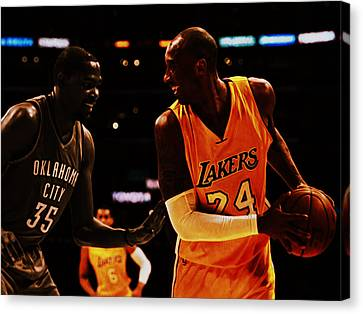 Kobe And Durant Canvas Print by Brian Reaves