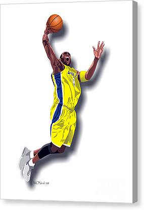 Kobe Bryant 8 Canvas Print by Walter Oliver Neal