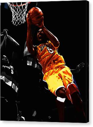 Kobe Bryant 8a Canvas Print by Brian Reaves