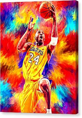 Kobe Bryant Basketball Art Portrait Painting Canvas Print