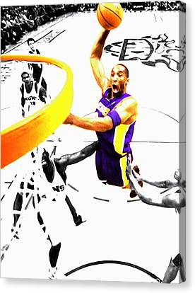 Kobe Bryant Flight Mode Canvas Print by Brian Reaves
