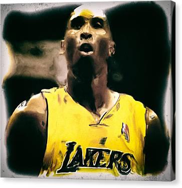 Kobe Bryant Focus Canvas Print by Brian Reaves