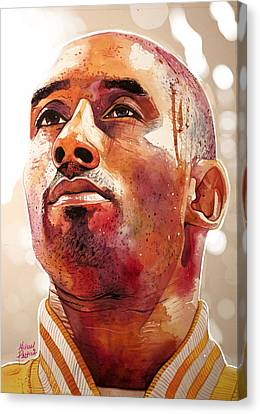 Kobe Bryant Lakers Final Game Gold Edition Canvas Print by Michael Pattison