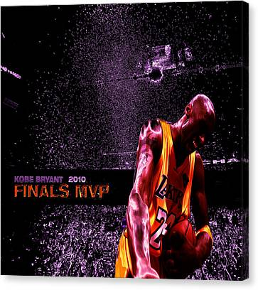 Kobe Bryant Nba Finals Canvas Print by Brian Reaves