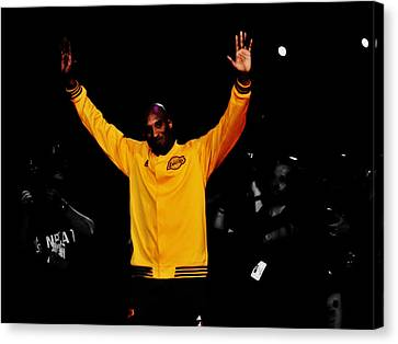 Kobe Bryant Thanks For The Memories Canvas Print by Brian Reaves