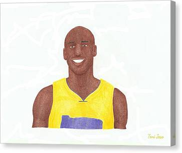 Kobe Bryant Canvas Print by Toni Jaso