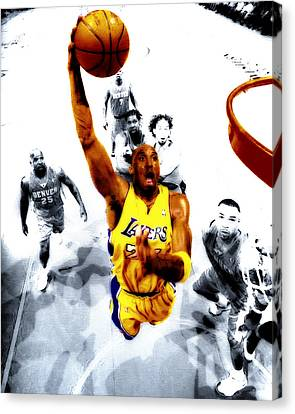 Kobe Bryant Took Flight Canvas Print by Brian Reaves
