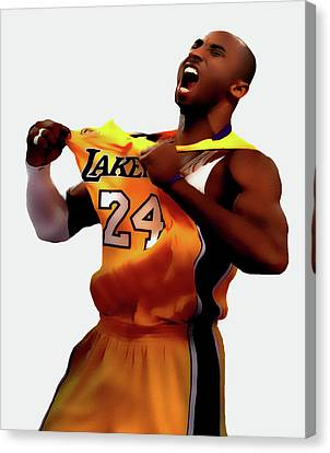Kobe Sweet Victory 2 Canvas Print by Brian Reaves