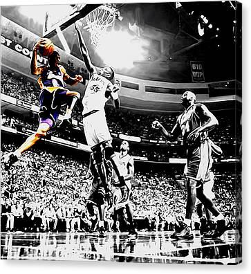Kobe Taking Flight Canvas Print by Brian Reaves