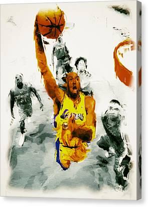 Kobe Took Flight 3a Canvas Print by Brian Reaves