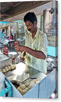 Canvas Print featuring the photograph Kochi Stall by Marion Galt