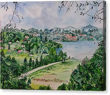 Kodai Lake View Canvas Print by Lupamudra Dutta