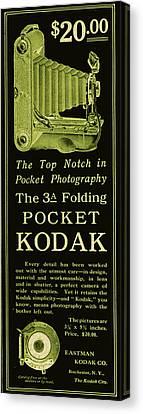 Kodak 3a Folding Camera Ad Canvas Print by Jennifer Rondinelli Reilly - Fine Art Photography