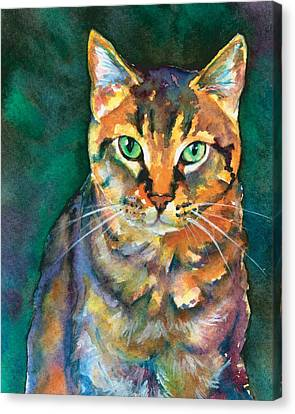 Canvas Print featuring the painting Kodi by Christy Freeman