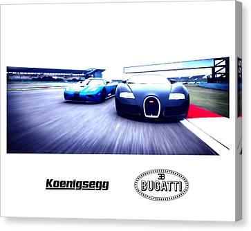 Koenigsegg Vs. Bugatti Canvas Print