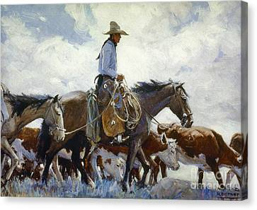 Koerner: Cowboy, 1920 Canvas Print by Granger