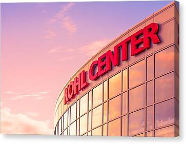 Kohl Center Illuminated Canvas Print by Todd Klassy