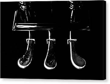 Kohler And Cambell Pedals Black And White Canvas Print by Sam Hymas