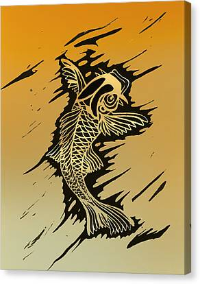 Koi 2 Canvas Print by Jeff DOttavio