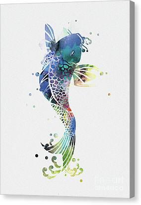 Koi Canvas Print by Monn Print