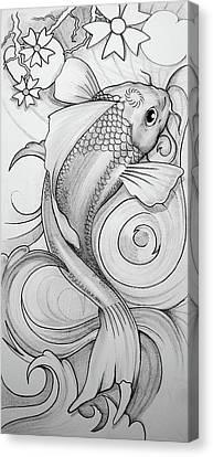 Koi Canvas Print by Brian Gibbs