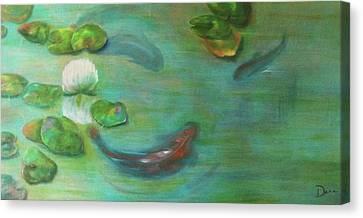 Koi Canvas Print by Dana Redfern