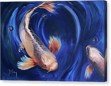 Koi Canvas Print by Donna Tuten