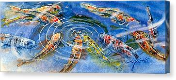 Koi Endurance Canvas Print by John YATO